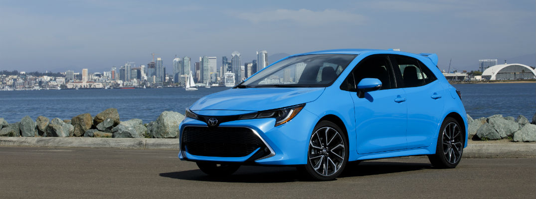 A front left quarter photo of the 2019 Toyota Corolla Hatchback