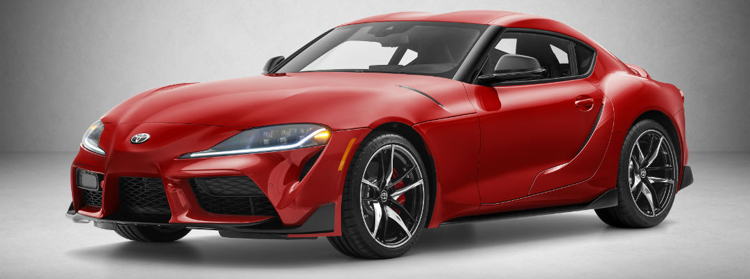 A front right quarter photo of the 2020 Toyota Supra.