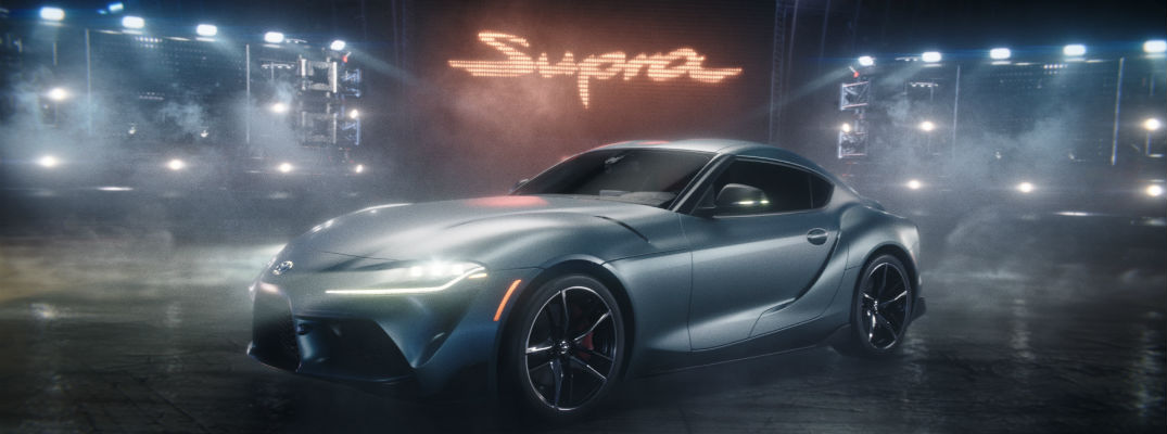 A still image from the Toyota Supra Super Bowl Commercial.