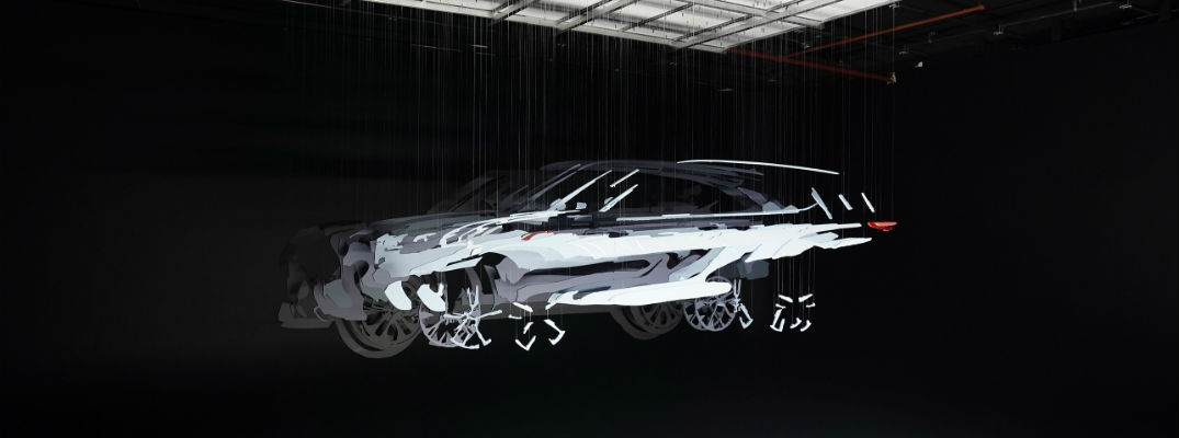 A photo of the 2020 Toyota Highlander being filmed in three dimensions.