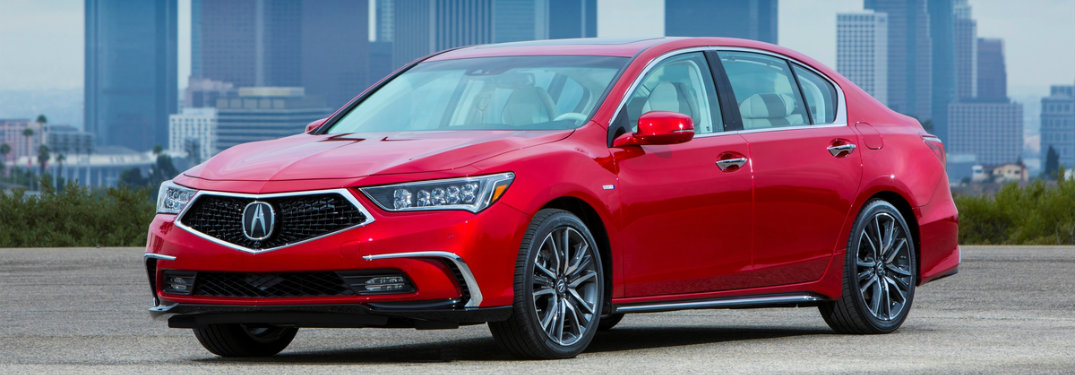 2018 Acura RLX Sport Hybrid Red Color Option