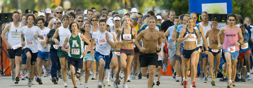 Runners in action during a 5k race