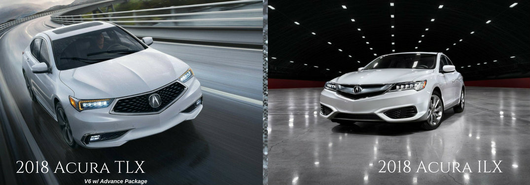 2018 Acura TLX on left with 2018 Acura ILX on right