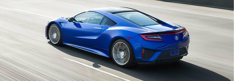Blue 2018 Acura NSX