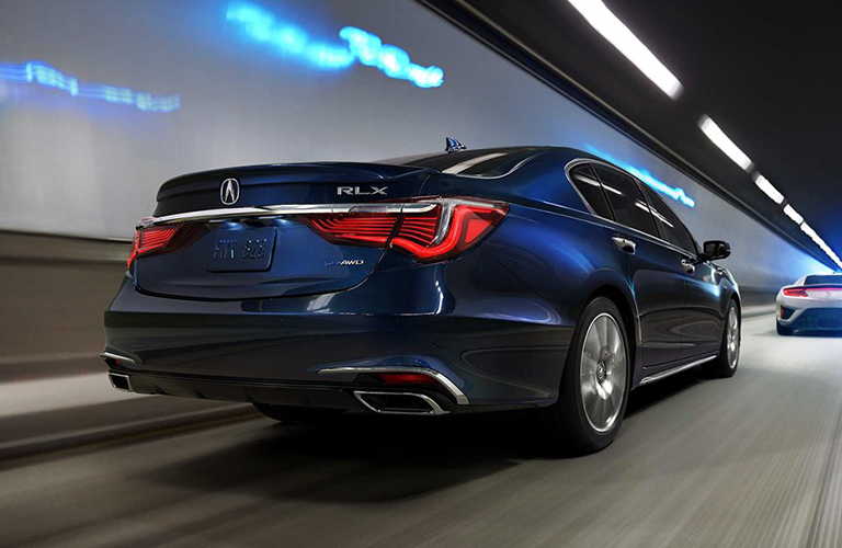 exterior rear of the 2019 Acura RLX