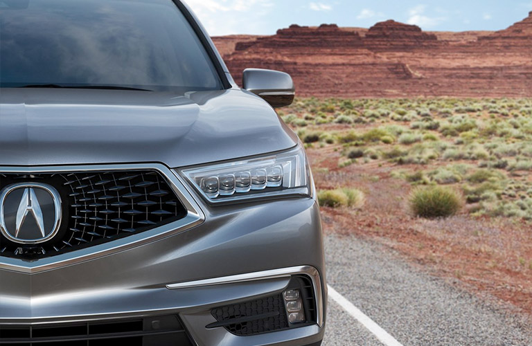2019 Acura MDX driving in a desert