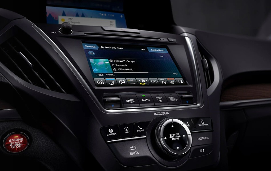 Close up of the On Demand Multi-Use Display in the 2020 Acura MDX