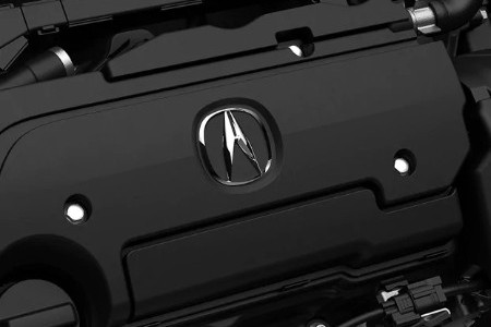 Close up of the engine inside the 2020 Acura ILX