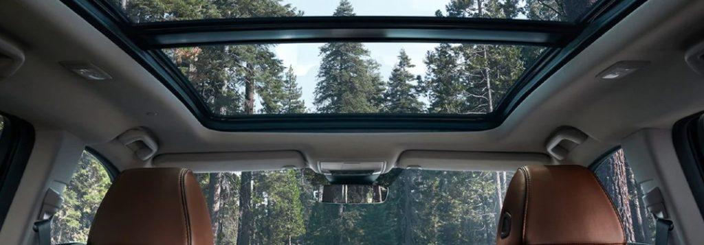 Panoramic moonroof inside the 2022 Acura MDX
