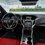 2018 Acura TLX interior red