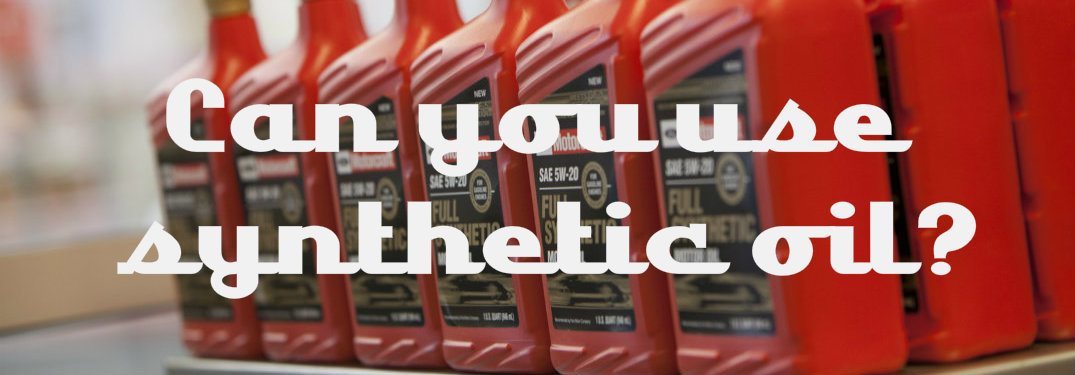 Can you use synthetic oil text over pictures of full synthetic oil on a shelf