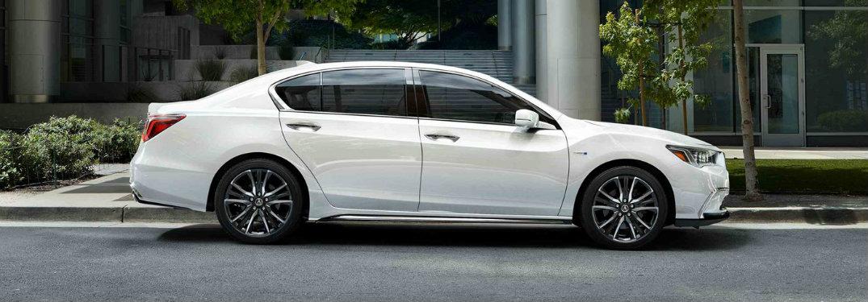 Side profile Bellanova White 2018 Acura RLX