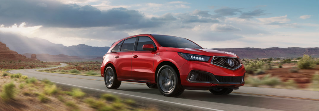 Red 2019 Acura MDX A-Spec