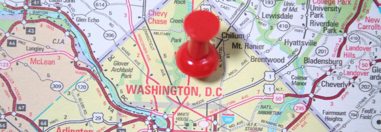 Atlas map showing Washington D.C.
