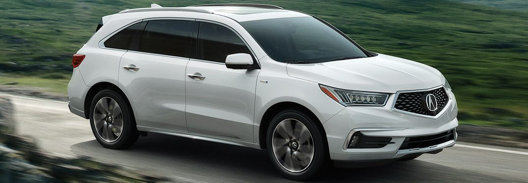 exterior front of the 2019 Acura MDX