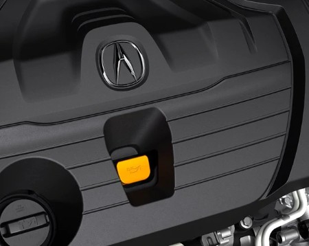 Close up of the engine in the 2020 Acura RDX