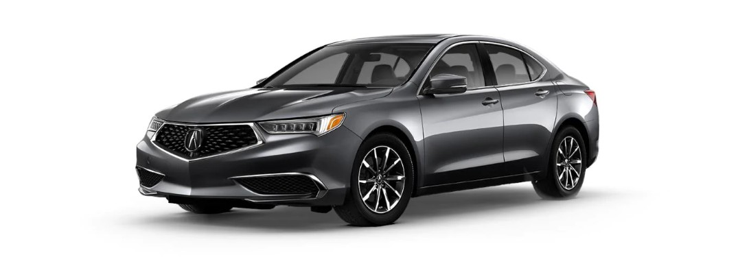 Front driver angle of a standard gray 2020 Acura TLX