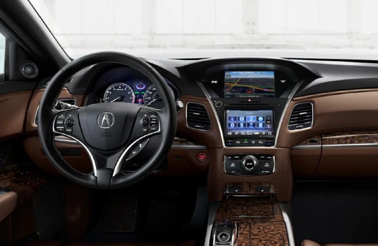 Front interior of the 2020 Acura RLX Technology Package