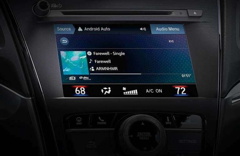 Close up of the touchscreen display inside the 2021 Acura ILX