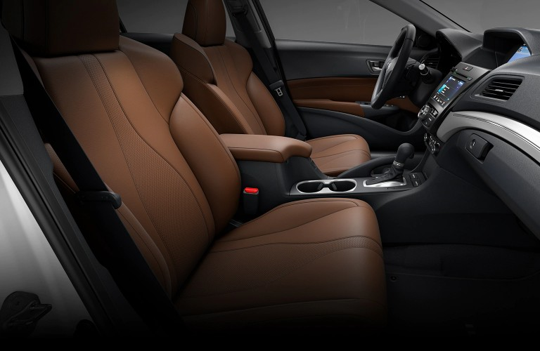Front seats inside the 2021 Acura ILX