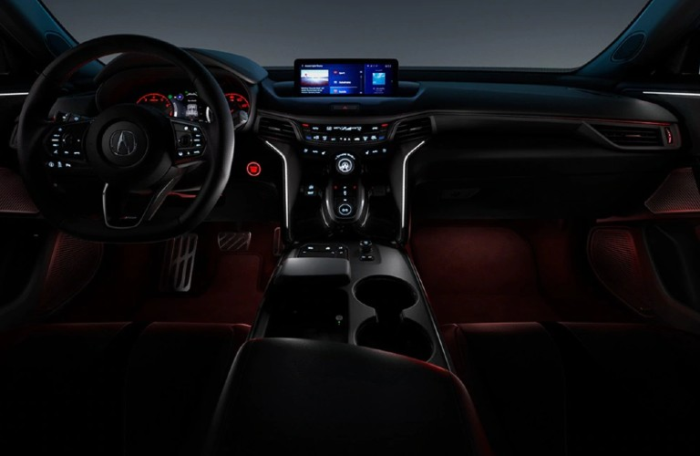 Front interior inside the 2021 Acura TLX