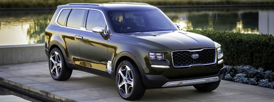 A front right quarter photo of the Kia Telluride concept vehicle.