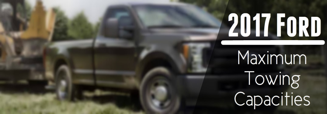 Ford models maximum towing capacities 2017 ford maximum towing capacities publicscrutiny Image collections