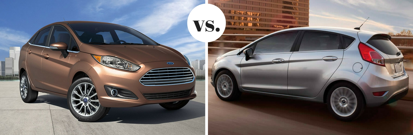 2017 Ford Fiesta Sedan vs. Hatchback trim comparison