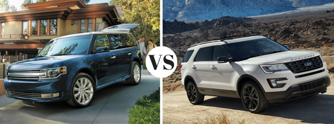 2017 Ford Flex vs 2017 Ford Explorer