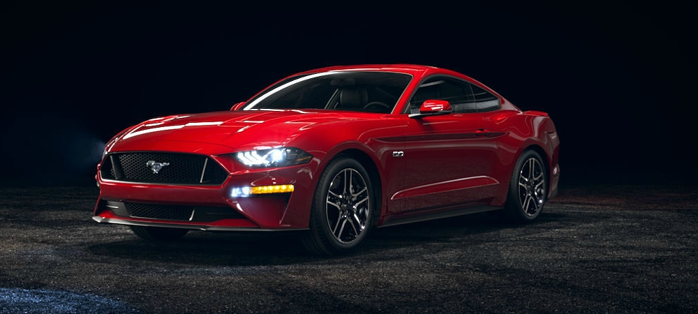 2018 Ford Mustang Race Red Front Side View O Kovatch Ford