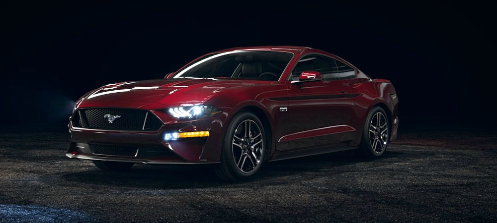 ford mustang royal crimson front side viewo kovatch ford