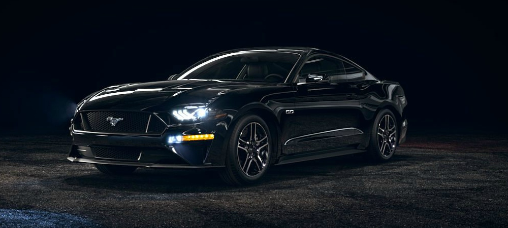 ford mustang shadow black front side viewo kovatch ford