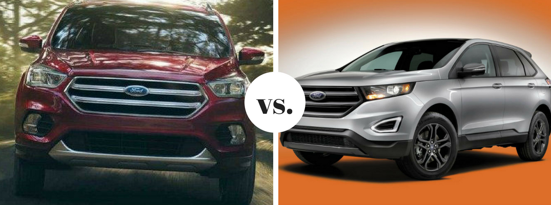 Ford Escape Positioned Next To  Ford Edge In Comparison Image
