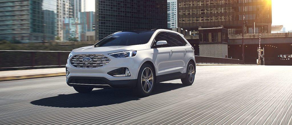 2019 Ford Edge in White Platinum