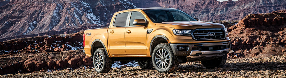 2019 Ford Ranger parked on rocky road