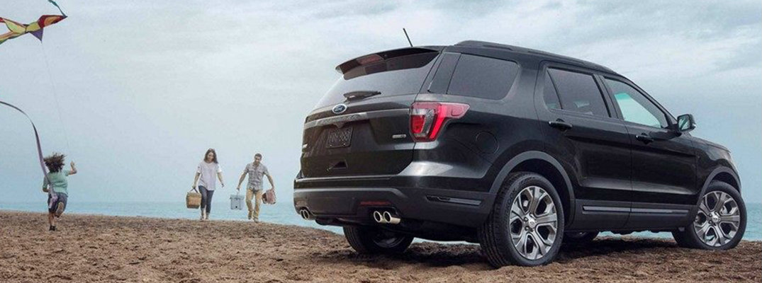 2019 Ford Explorer side view in black