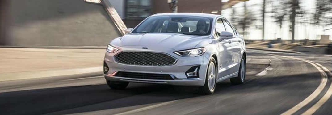 2019 Ford Fusion in white