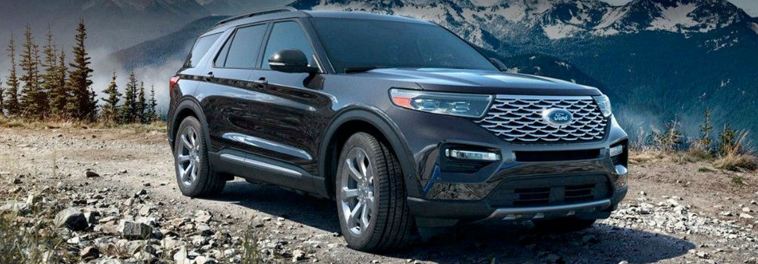 2020 Ford Explorer in black