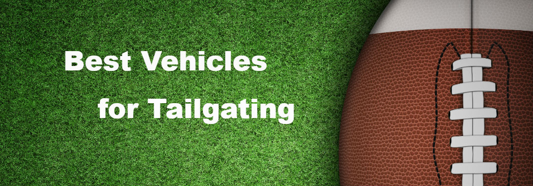 "Football and ""Best Vehicles for Tailgating"" text"