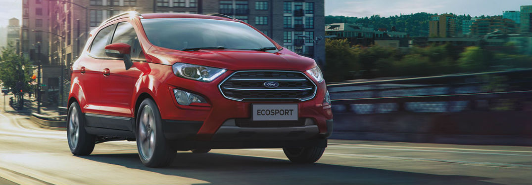 2020 Ford EcoSport in red