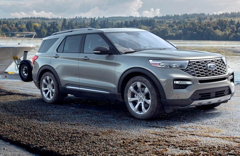 2020 Ford Explorer in gray