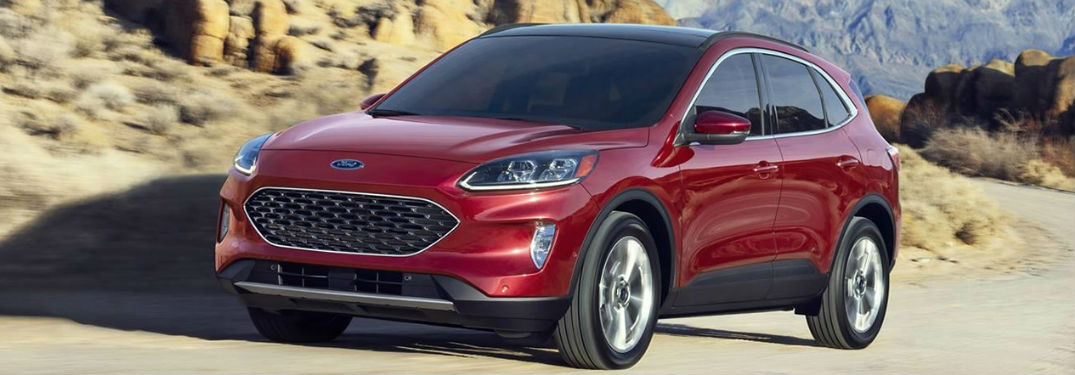 2020 Ford Escape in red