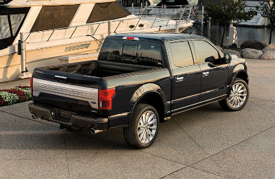 2020 Ford F-150 exterior sky view of rear fascia passenger side truck bed