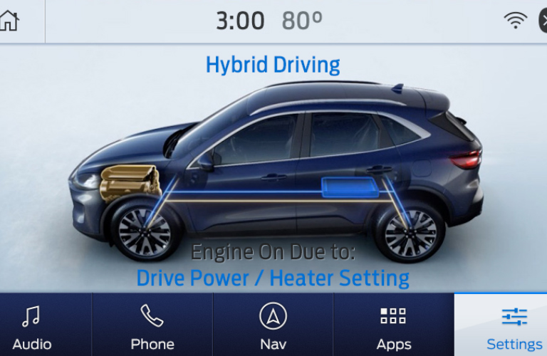 EV Coach feature on the digital instrument cluster in a 2020 Ford Escape Hybrid