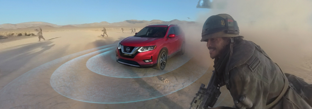 screenshot of Nissan Rogue in the Star Wars VR