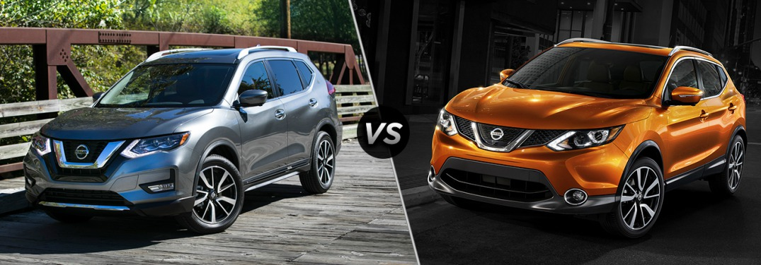 2018 Nissan Rogue and Rogue Sport side by side