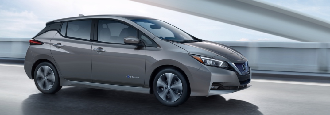 gray 2018 Nissan Leaf side view