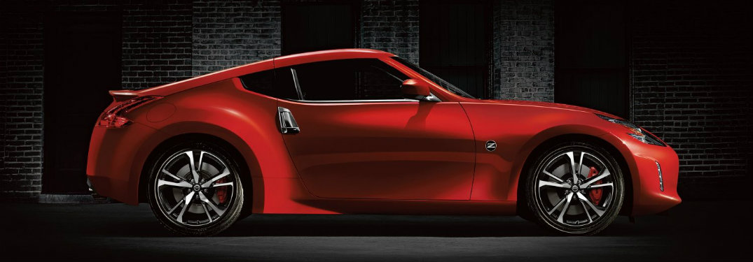 side-profile-of-red-2018-Nissan-370Z-sports-car