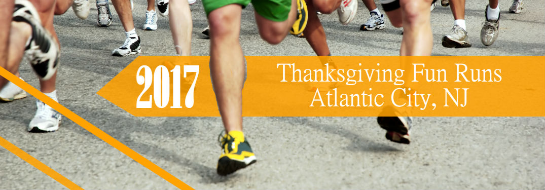 title image showing runners feet as they run in a turkey trot near atlantic city nj