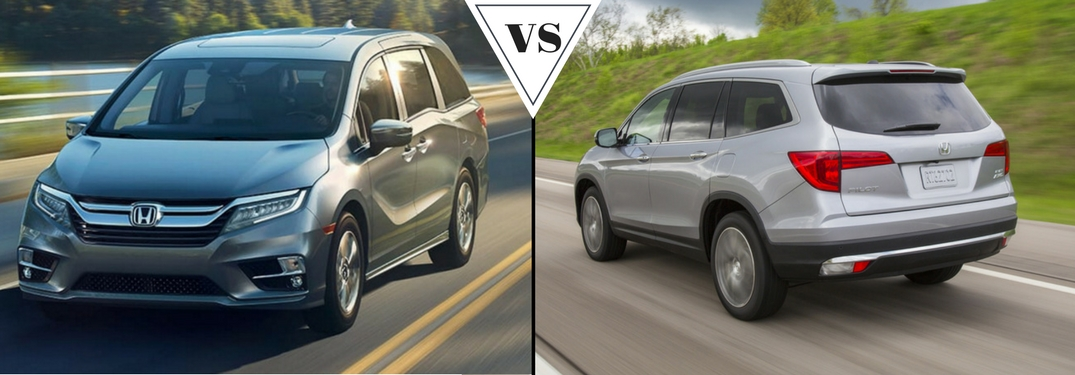 Which has more cargo space: the Honda Odyssey or Pilot?